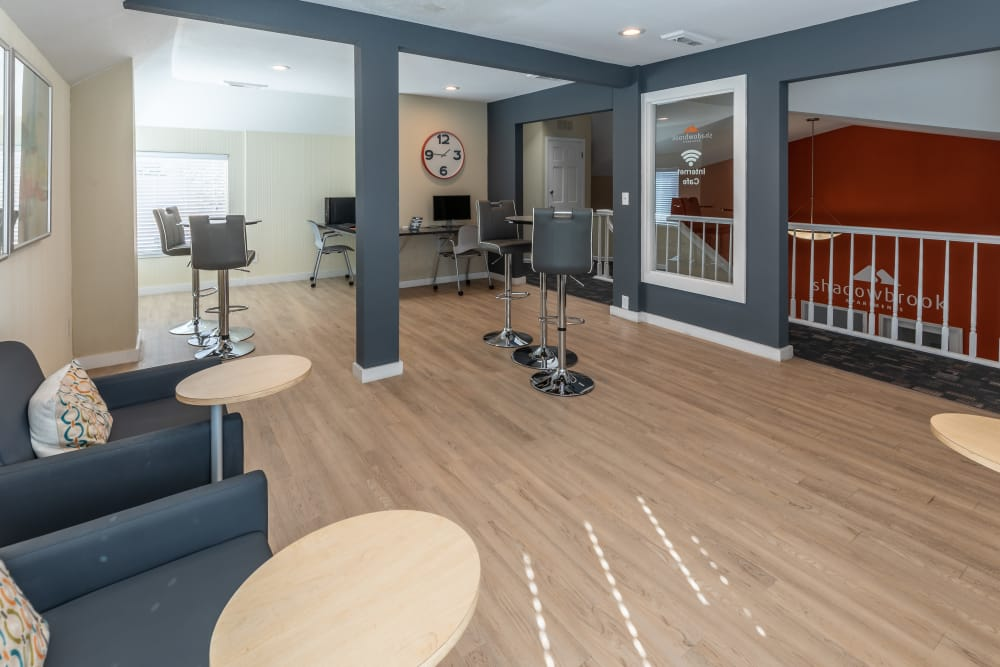 Business Center and lounge at Shadowbrook Apartments