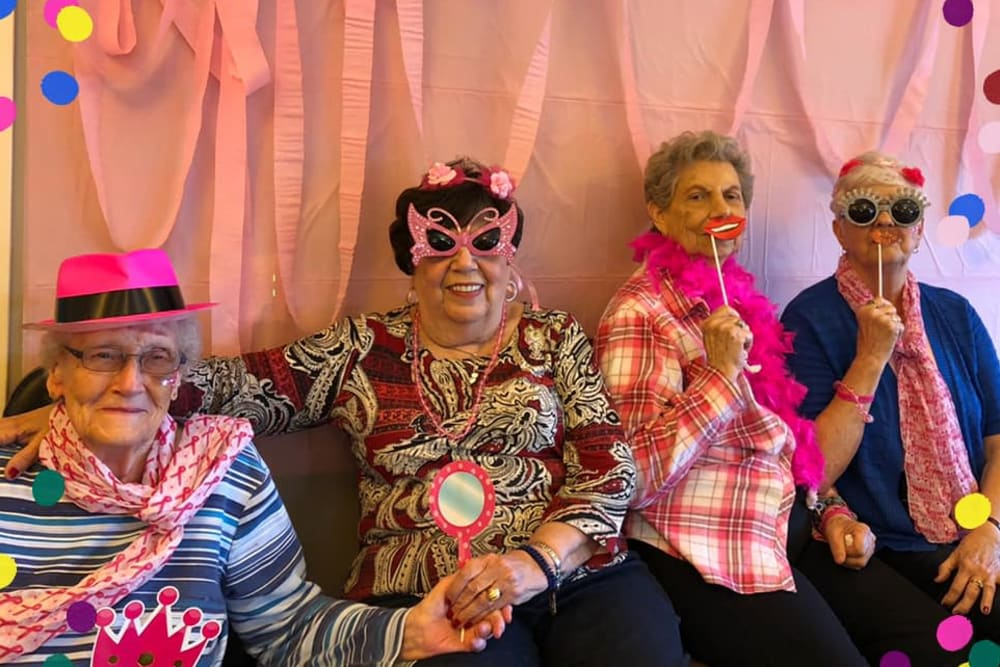 Pink Glitz Girls for Breast Cancer at RobinBrooke Senior Living