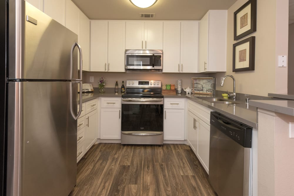 Stainless steel kitchen at Paloma Summit Condominiums in Foothill Ranch