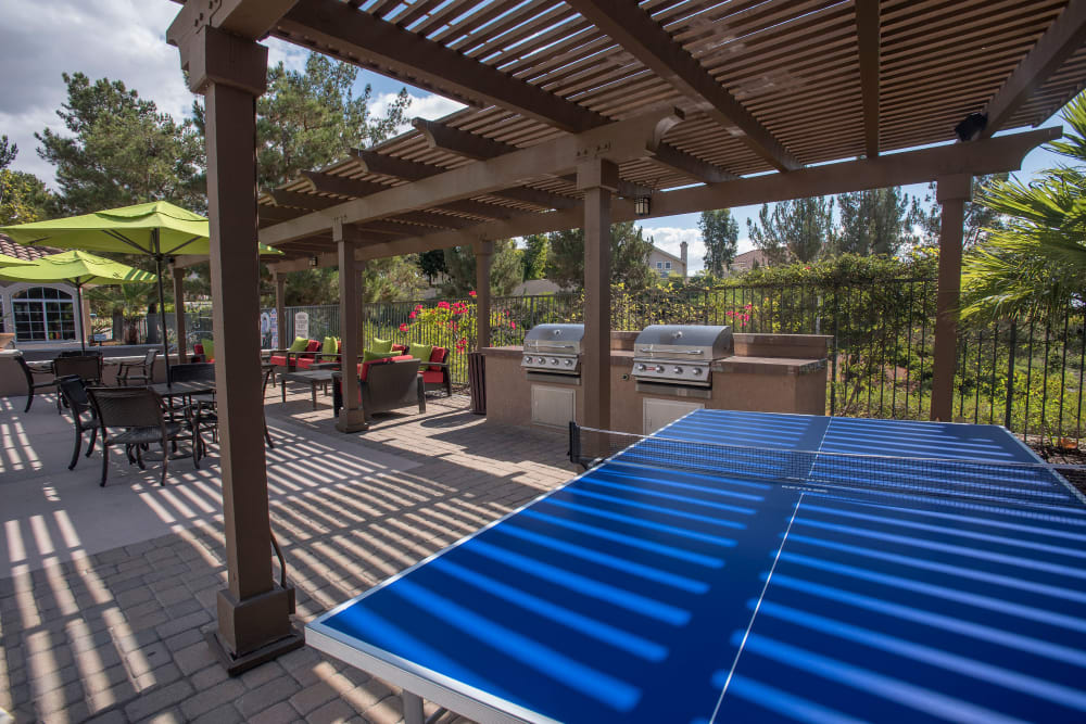 Cabana, pool, and patio at Paloma Summit Condominiums