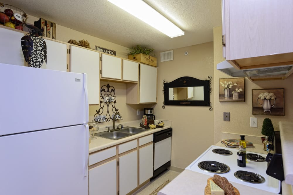 Kitchen at Acacia Park Apartments in El Paso, Texas