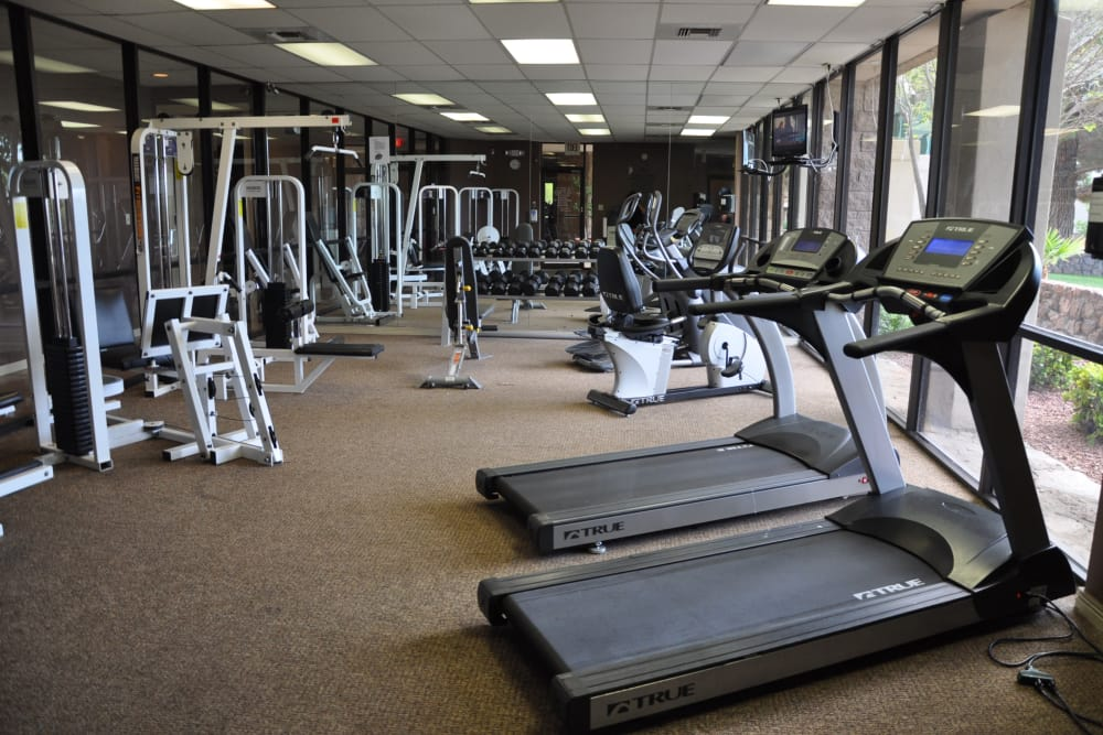 Fitness center at Acacia Park Apartments in El Paso, Texas