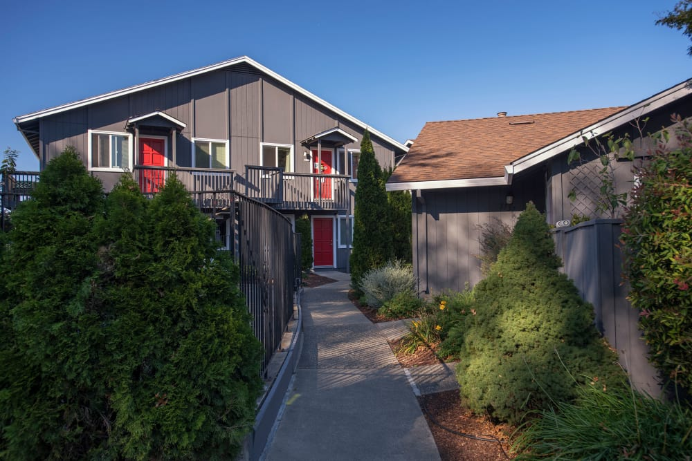 Front exterior of unit at Spring Lake Apartment Homes in Santa Rosa, California