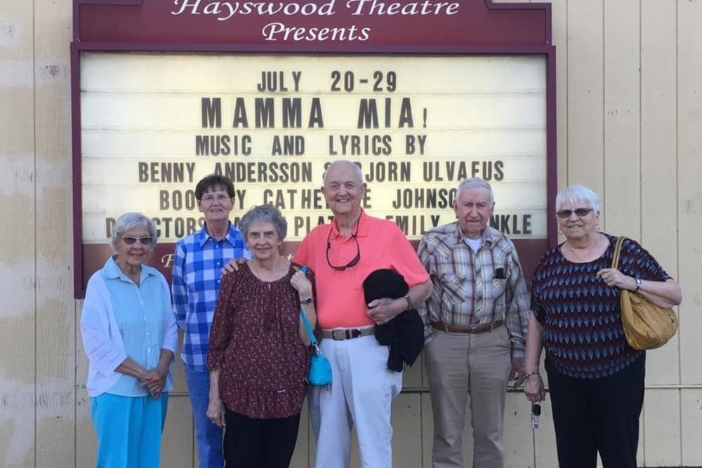 Residents on a trip to the theater with Harrison Springs Health Campus in Corydon, Indiana