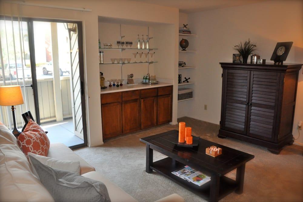 Spacious living area at High Ridge Apartments in El Paso, Texas