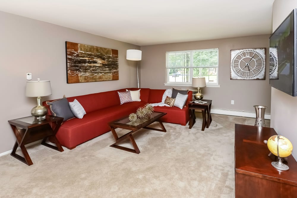 Living Room at Camp Hill Apartment Homes in Camp Hill, Pennsylvania