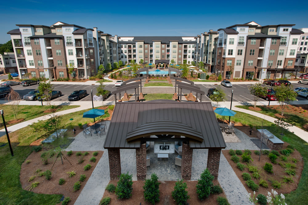 Exterior view of Perimeter Lofts in Charlotte, North Carolina