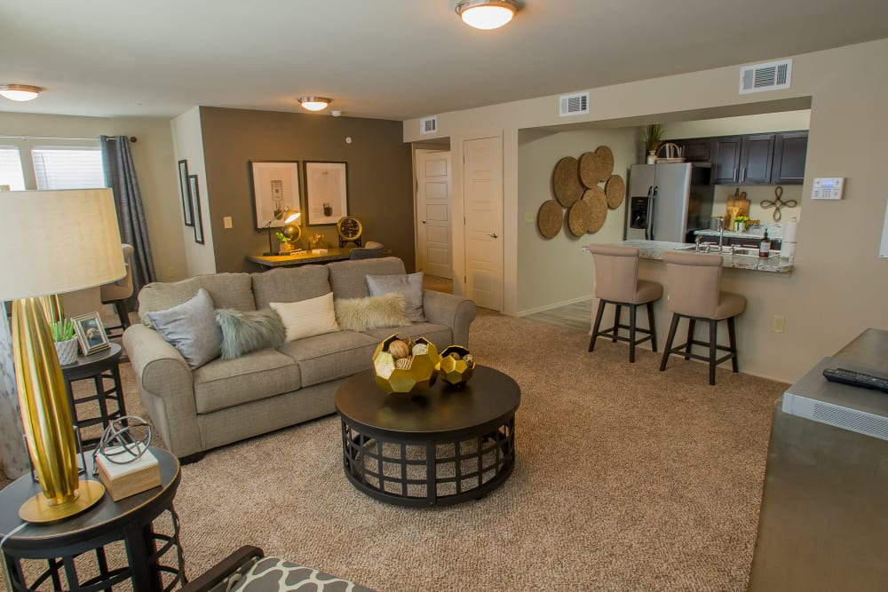 Well furnished living room at Icon at Corpus Christi in Corpus Christi, Texas