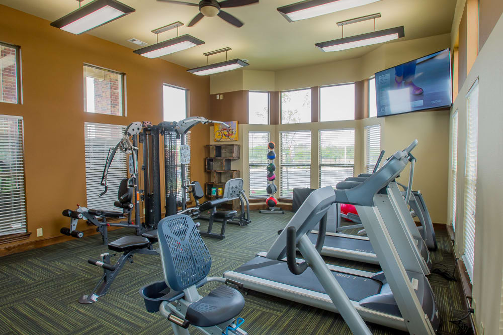 Fitness center at Icon at Corpus Christi in Corpus Christi, Texas