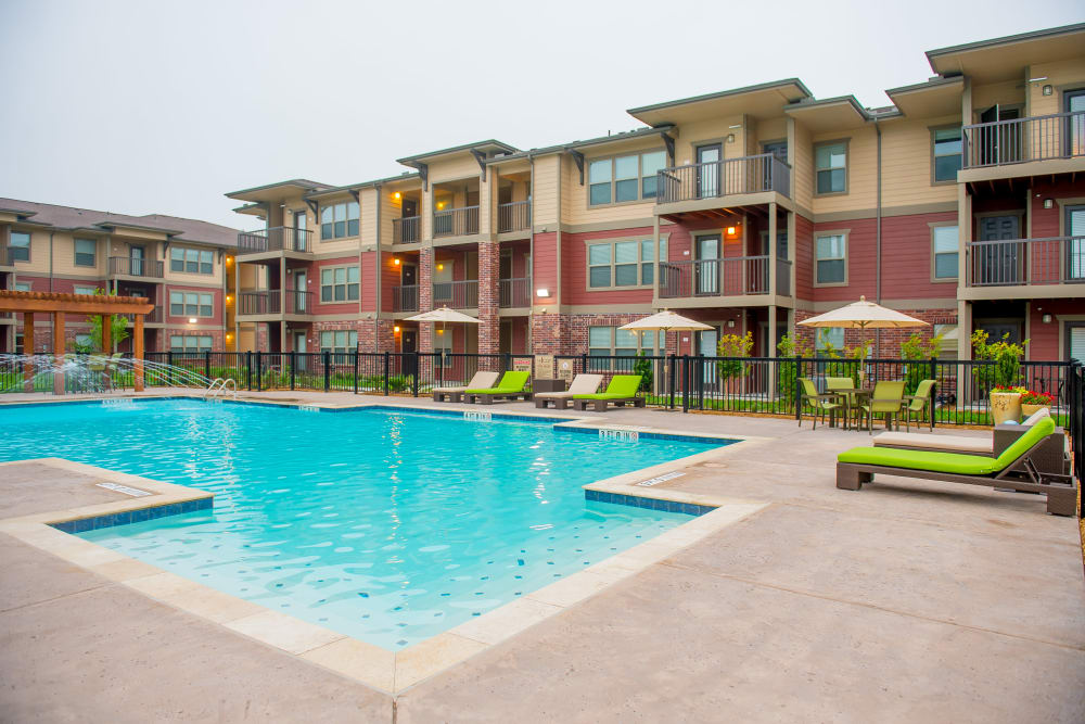 Sparkling swimming pool at Icon at Corpus Christi in Corpus Christi, Texas