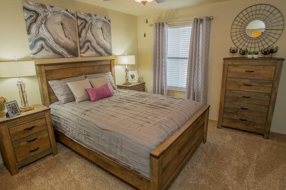 Cozy bedroom at Icon at Corpus Christi in Corpus Christi, Texas