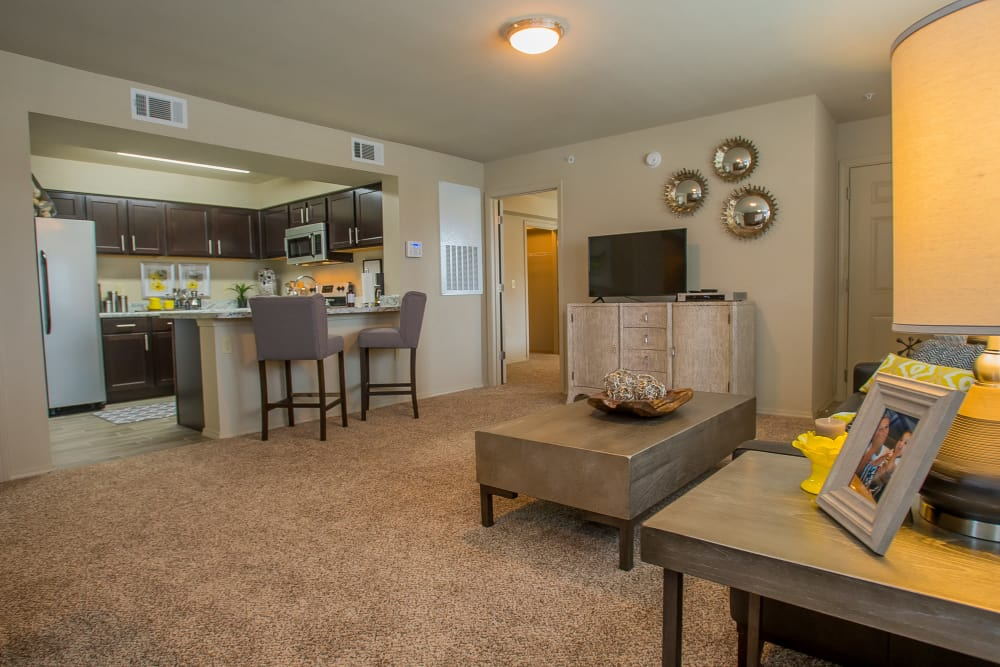 Beautiful living room at Icon at Corpus Christi in Corpus Christi, Texas