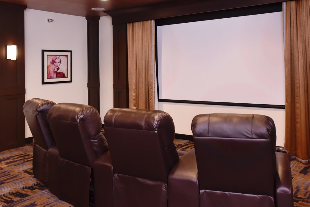 Private movie theater for residents at Wooded Glen in Springfield, Ohio