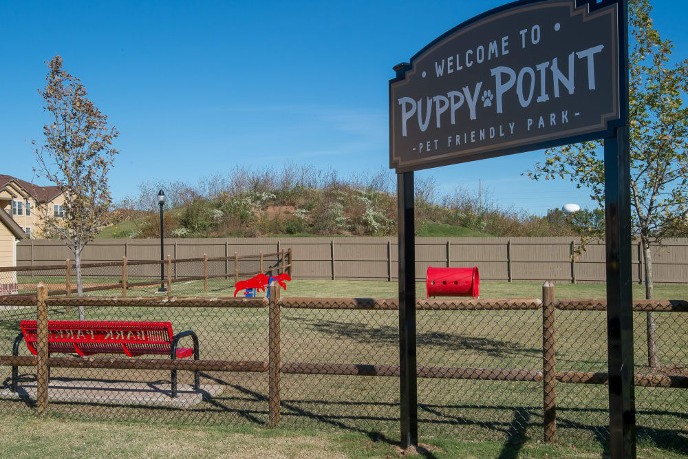 Mission Point Apartments' puppy park in Moore, Oklahoma