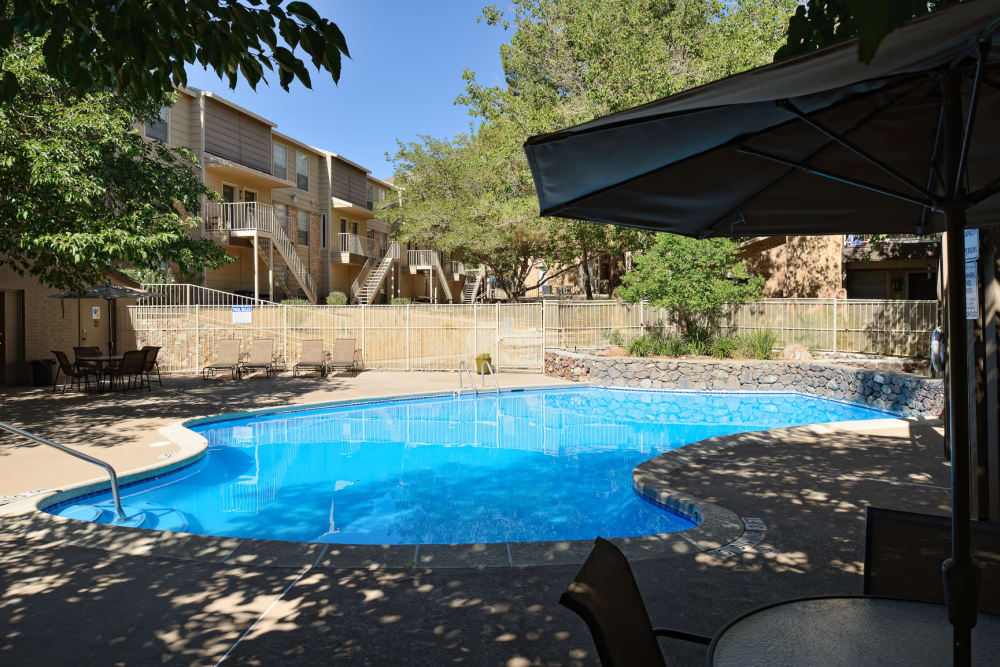 Mountain Village offers a beautiful swimming pool in El Paso, Texas