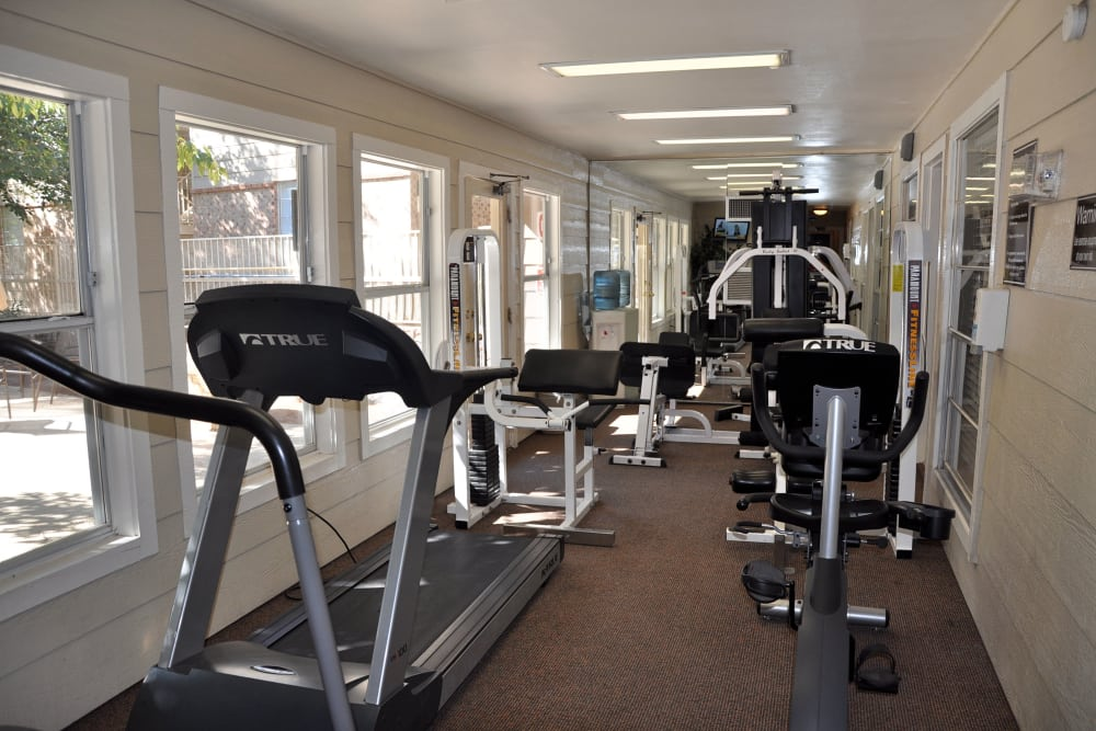 Fitness center at Mountain Village in El Paso, Texas