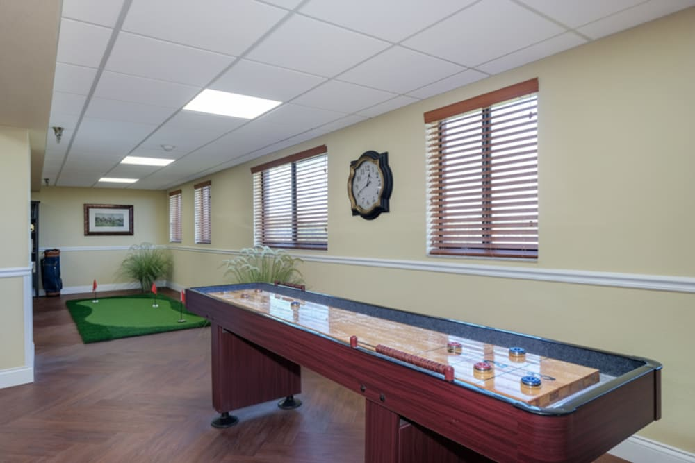 Shuffleboard at Grand Villa of New Port Richey in Florida