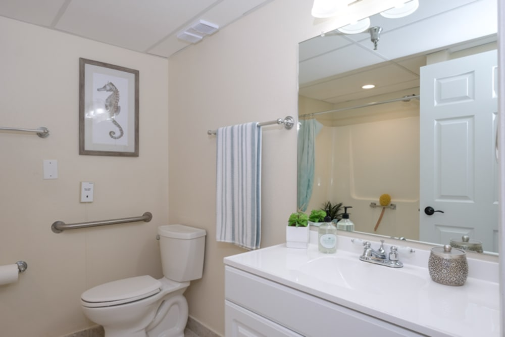 Bathroom model at Grand Villa of New Port Richey in Florida