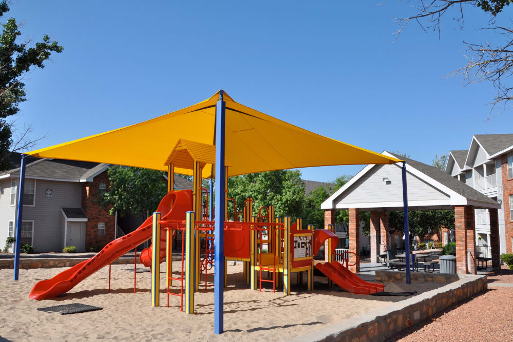 Outdoor playground at Shadow Ridge Apartments in El Paso, Texas