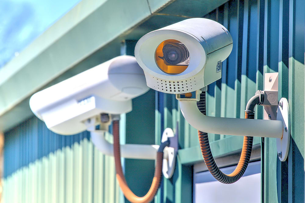 Surveillance cameras at Prime Storage in Columbia, South Carolina