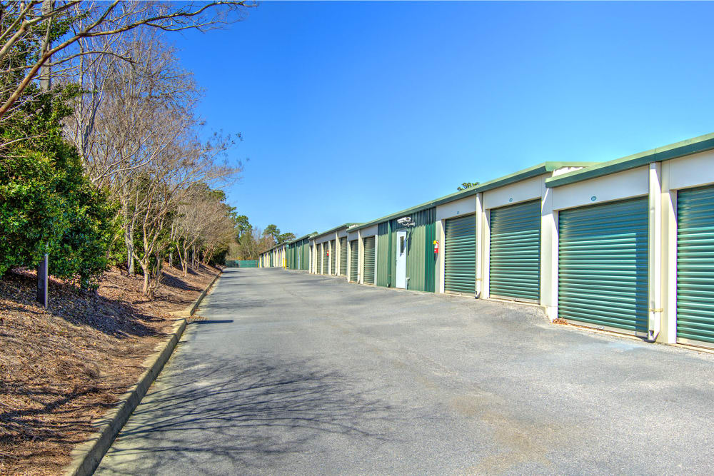 Row of units at Prime Storage in Columbia, South Carolina