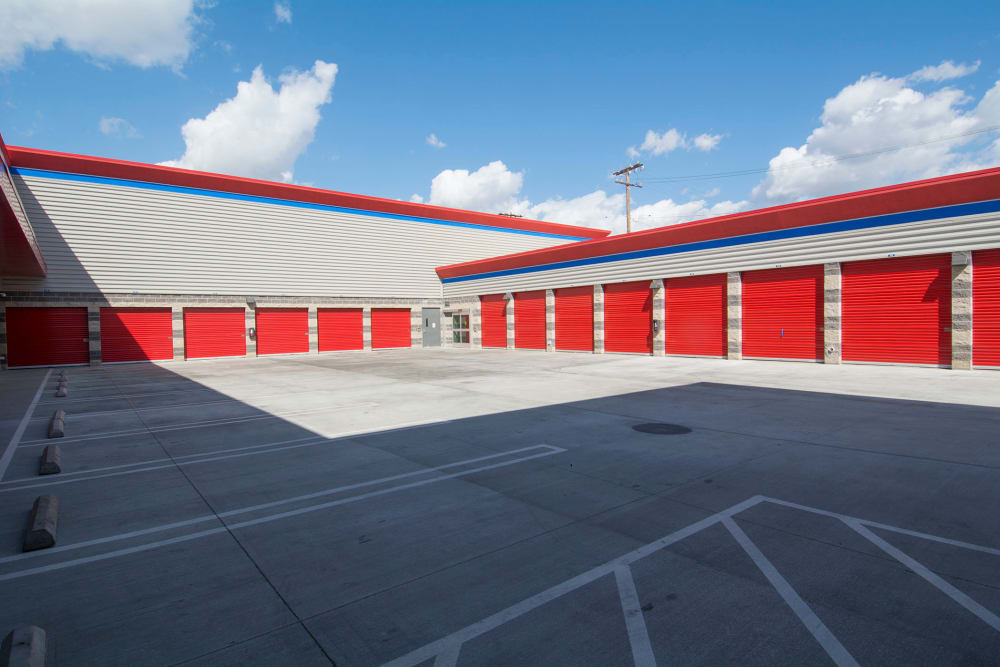 Ample parking at Trojan Storage in Burbank, California