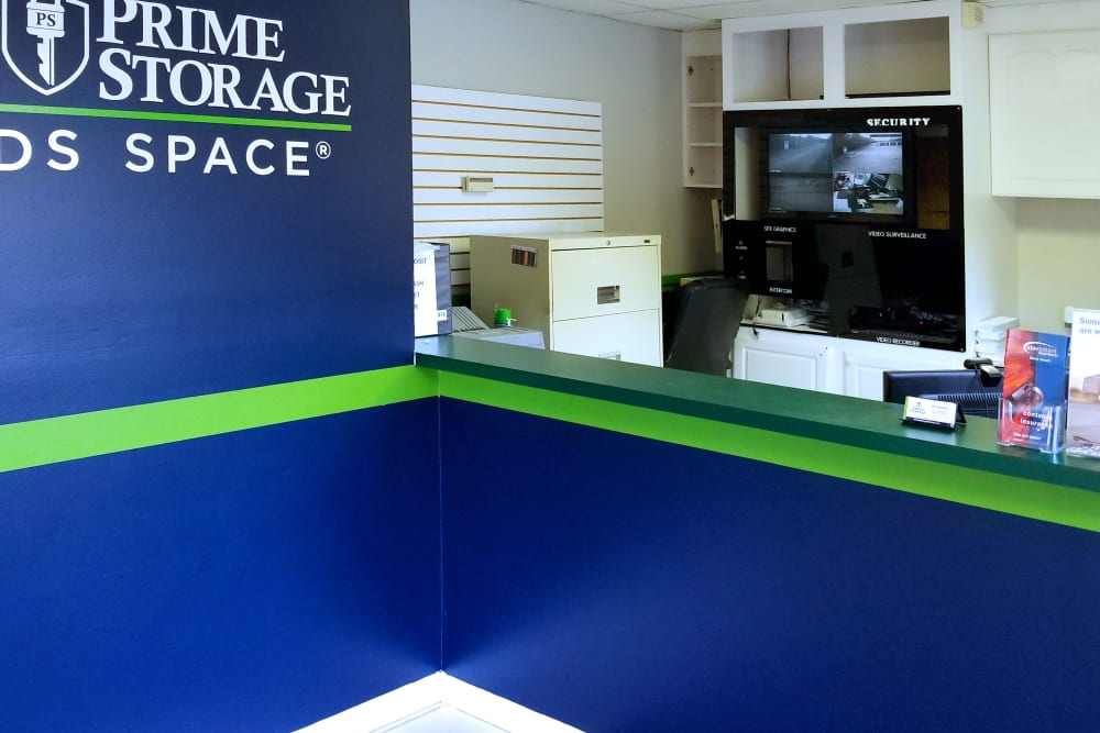 Leasing office at Prime Storage in Columbia, South Carolina
