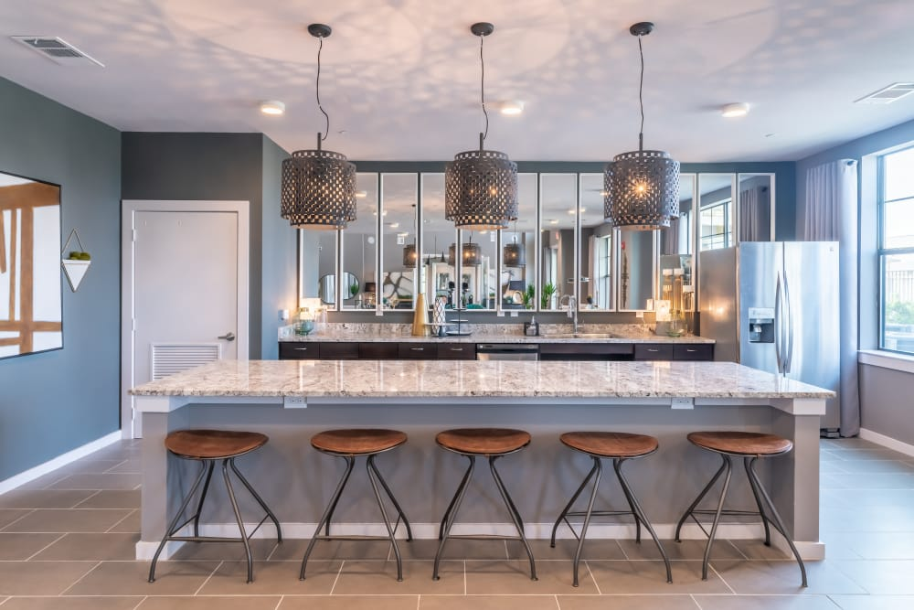 Beautiful kitchen at Aspire at 610 in Houston, Texas