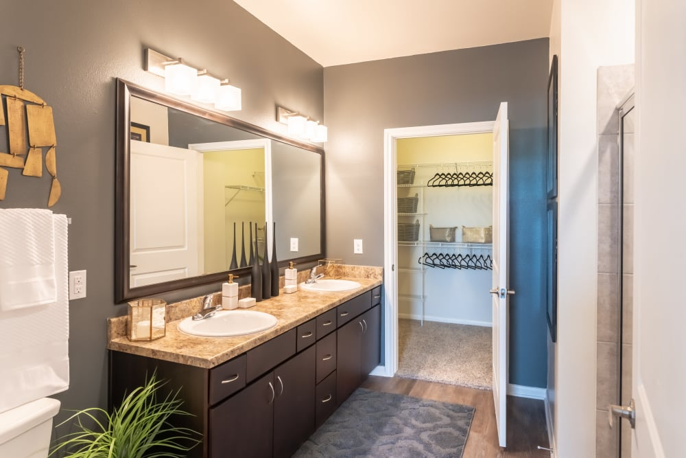 Aspire at 610 offers a spacious bathroom in Houston, Texas