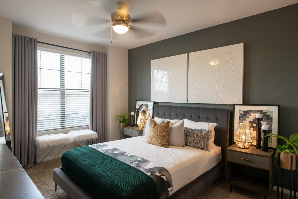 Naturally well-lit bedroom at Aspire at 610 in Houston, Texas