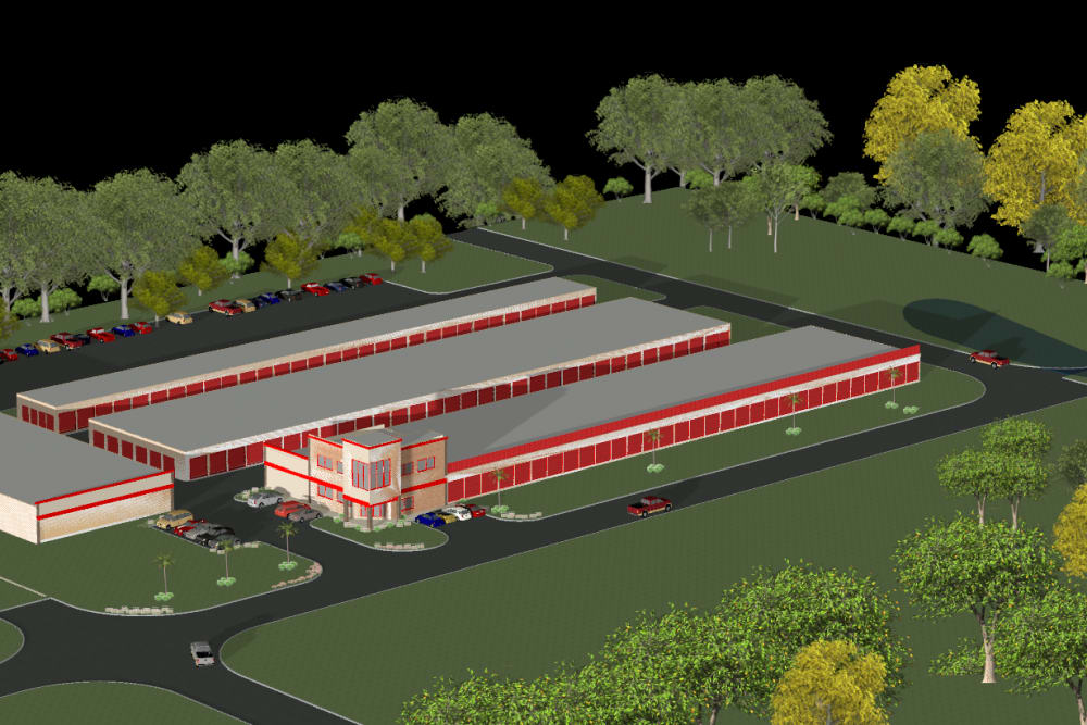 Rendering of new construction at Storage Authority Mulberry Florida in Mulberry, Florida
