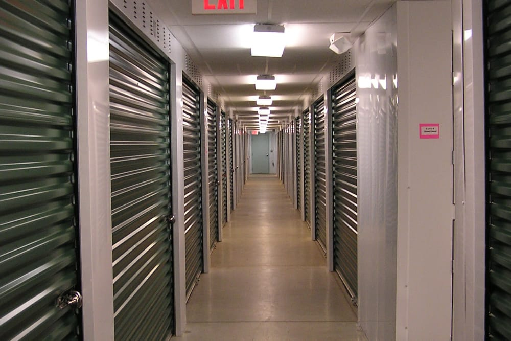 Climate controlled storage units at Coventry Self Storage in Coventry, Connecticut
