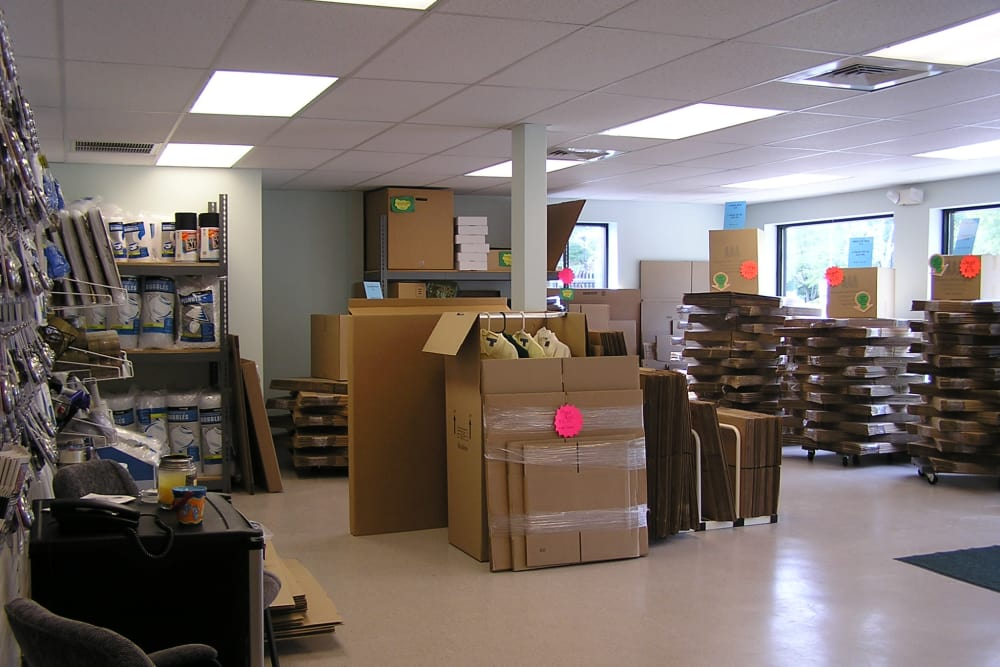 Packing supplies at Coventry Self Storage in Coventry, Connecticut