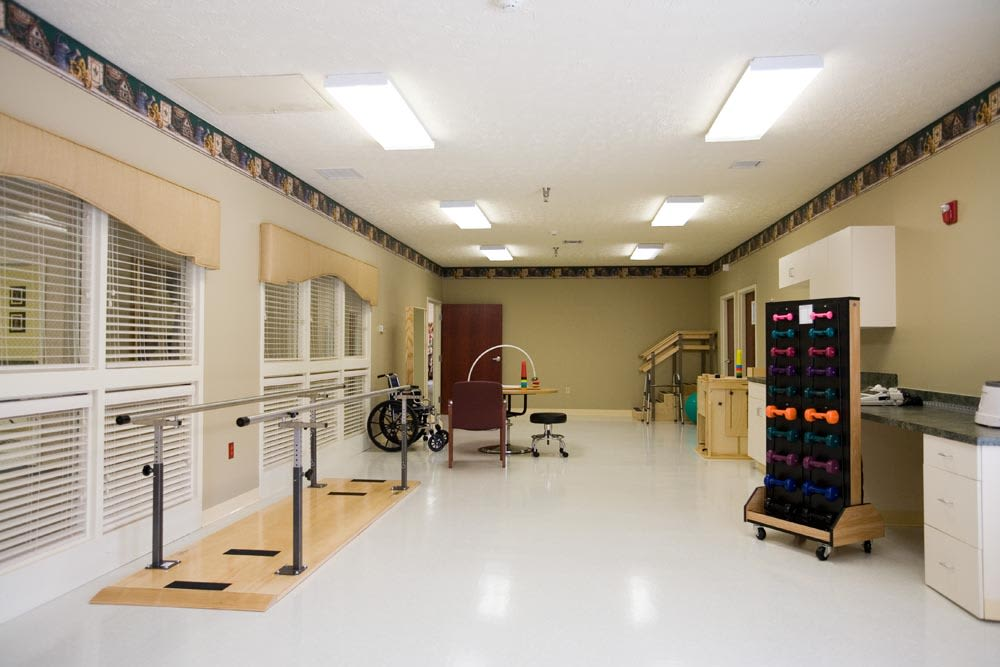 Rehabilitation equipment at St. Charles Health Campus in Jasper, Indiana