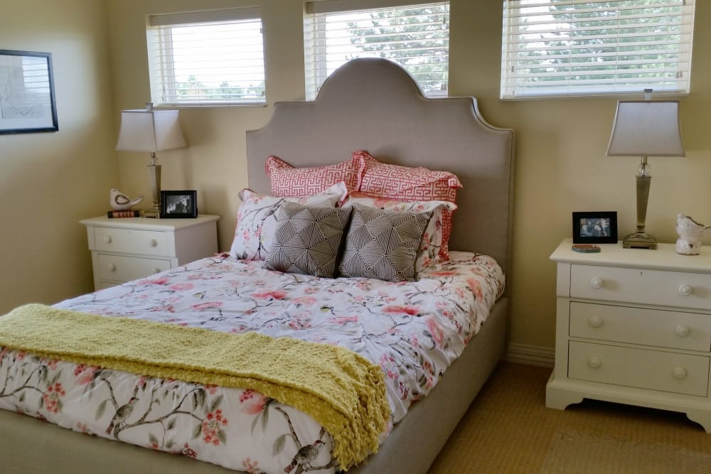 Bedroom for residents at Waterford Place Health Campus in Kokomo, Indiana