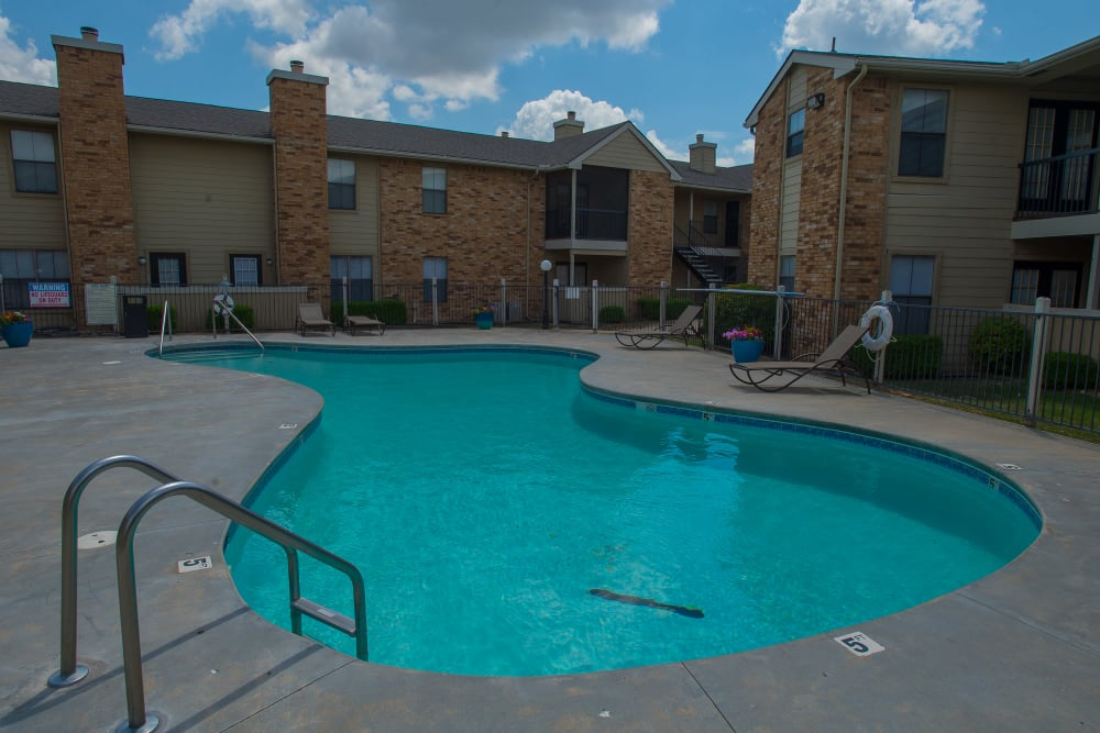Resort style pool at Cimarron Trails Apartments in Norman, Oklahoma