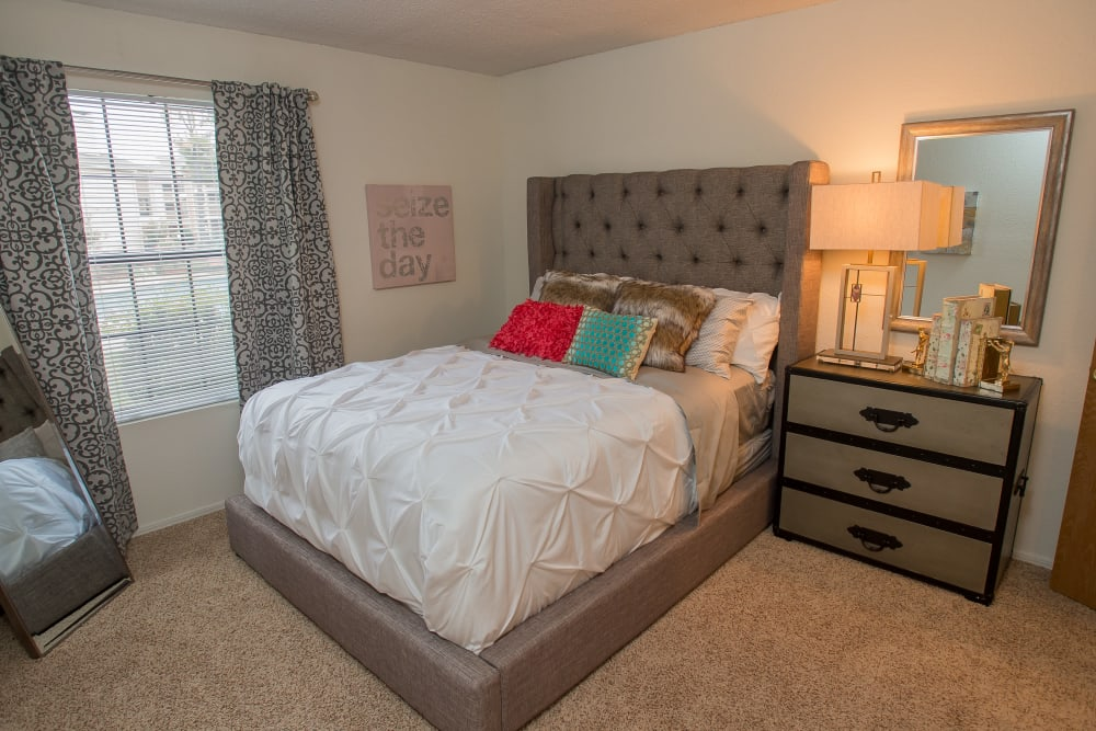 Spacious bedroom at Copperfield Apartments in Oklahoma City, Oklahoma