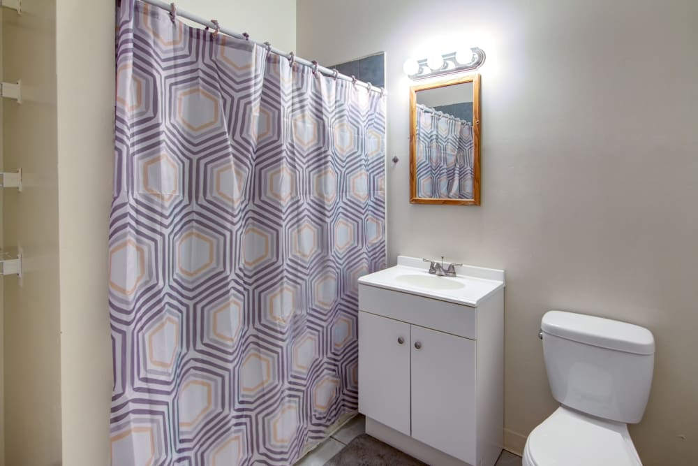 Bathroom at Bulldog Apartments in New Haven, Connecticut
