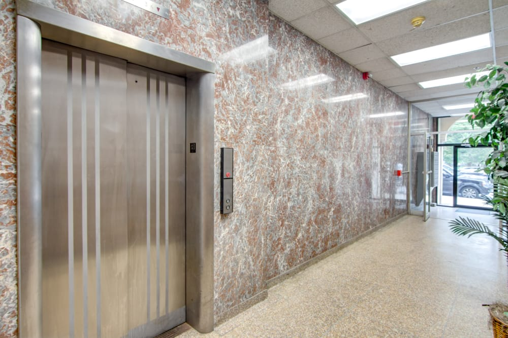 Elevator at Bulldog Apartments in New Haven, Connecticut