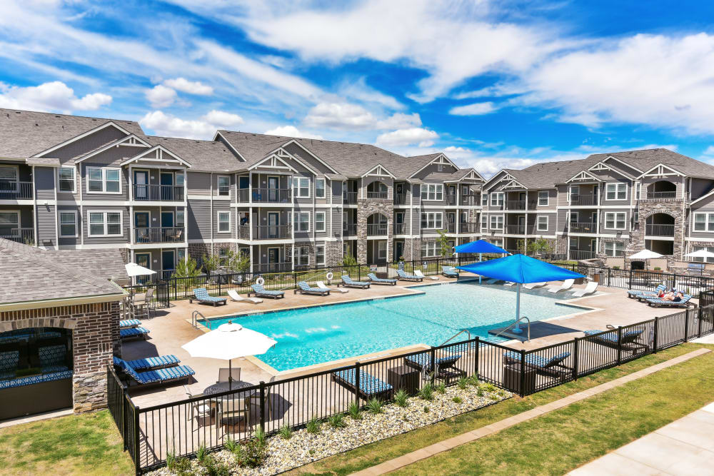 Aerial view of Cottages at Abbey Glen Apartments in Lubbock, Texas