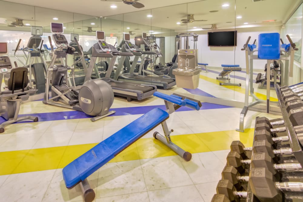 Fitness Center at The Moderne in Stamford, Connecticut