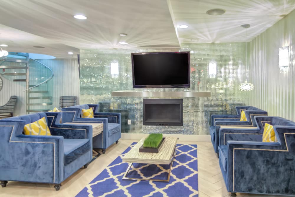 Lounge area at The Moderne in Stamford, Connecticut