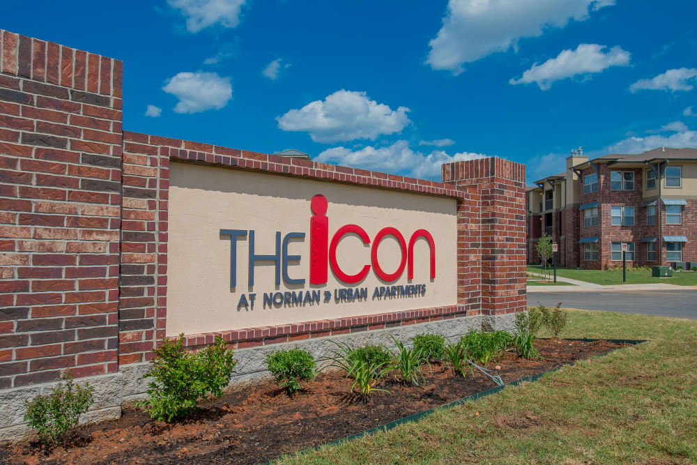 Sign for Icon at Norman in Norman, Oklahoma