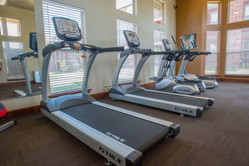 Fitness center for residents at Icon at Norman in Norman, Oklahoma