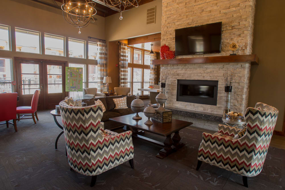 Clubhouse interior at Icon at Norman in Norman, Oklahoma