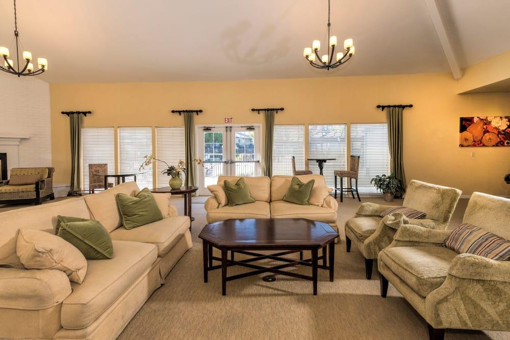 Beautiful living room at Park Ridge Apartment Homes in Rohnert Park, California