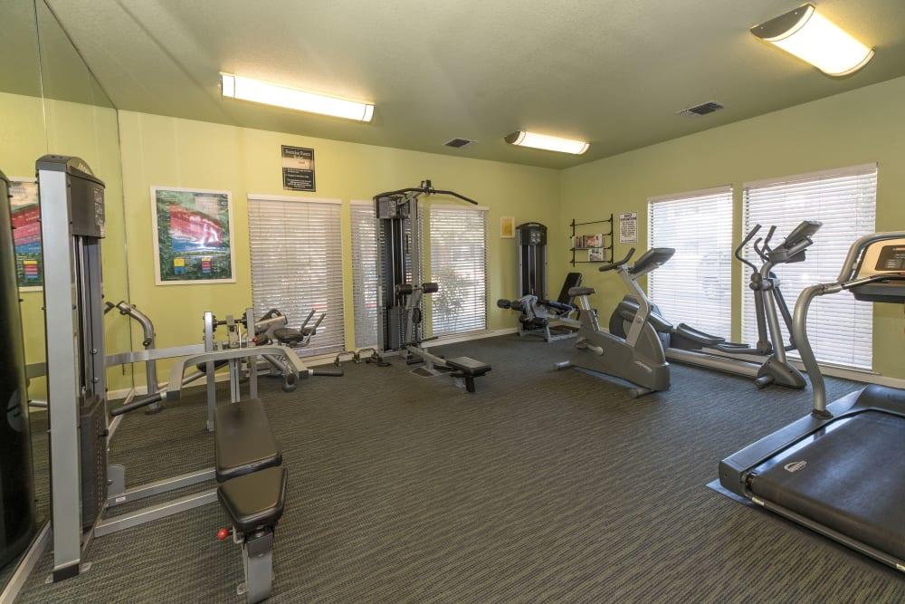 Modern fitness center at Park Ridge Apartment Homes in Rohnert Park, California
