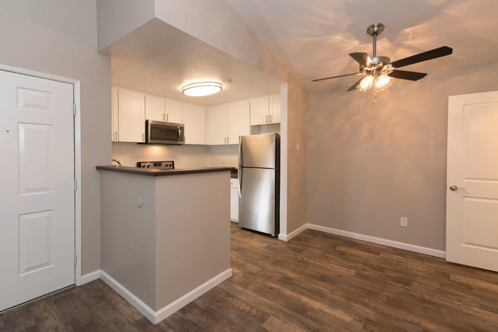 Modern kitchen at apartments in Rohnert Park, California