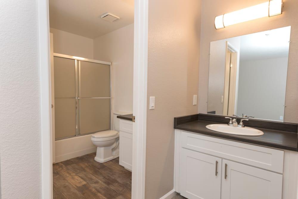 Luxury bathroom at Park Ridge Apartment Homes in Rohnert Park, California