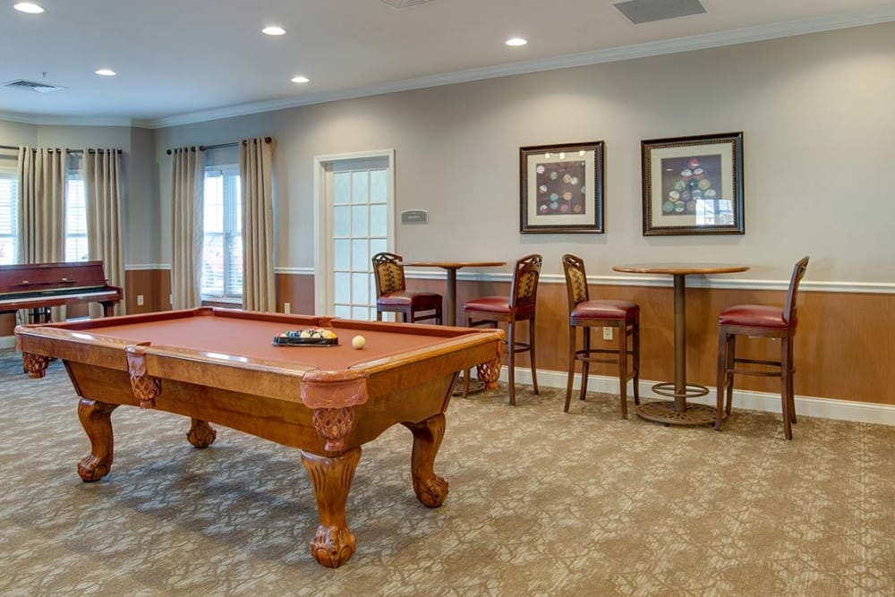 Game room at Capetown Senior Living in Cape Girardeau, Missouri